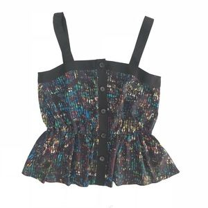 Derek Lam for Design Nation POP! Button Peplum Top